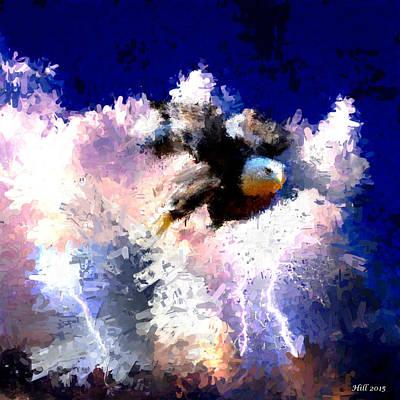 Digital Art - The Thunderbird by T D Hill