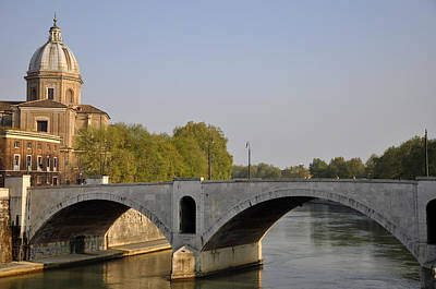 Photograph - The Tiber River  by Andrew Dinh