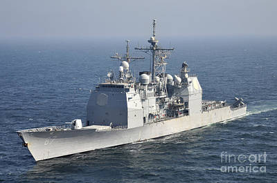 Japan Relief Photograph - The Ticonderoga-class Guided-missile by Stocktrek Images