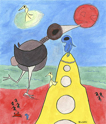 Candy Painting - The Tide Of The Red Moon by Steven Paul Winkelstein