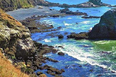 Photograph - The Tidepools Near Yaquina Head Lighthouse by Kirsten Giving