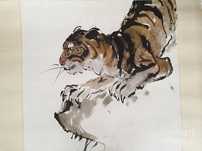 Painting - The Tiger At Rest by Fereshteh Stoecklein