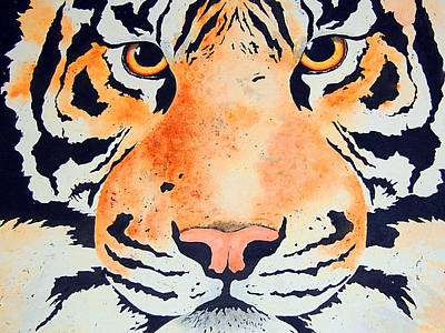 Painting - The Tiger by Barbara J Blaisdell