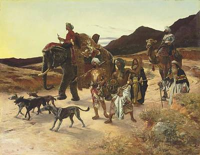 The Tiger Hunt Painting - The Tiger Hunt by Eastern Accent