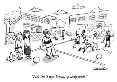Drawing - The Tiger Woods Of Dodgeball by Covert C Darbyshire