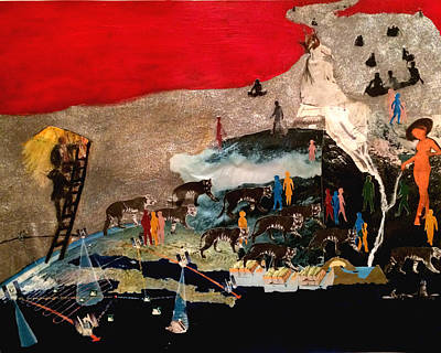 Liberation Painting - The Tigers Roam The Mountainside, Purring by Charlie Key