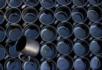 Photograph - The Tilted Black Mug by Prakash Ghai