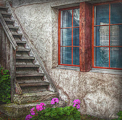 Fenster Photograph - The Timbre Stair by Hanny Heim