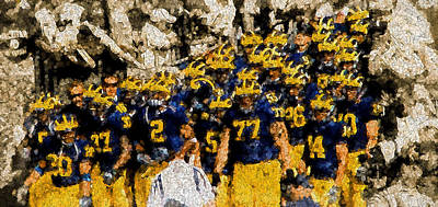 University Of Michigan Painting - The Time Has Come by John Farr