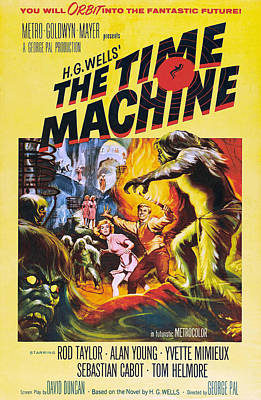 1960s Poster Art Photograph - The Time Machine, From Left Center by Everett