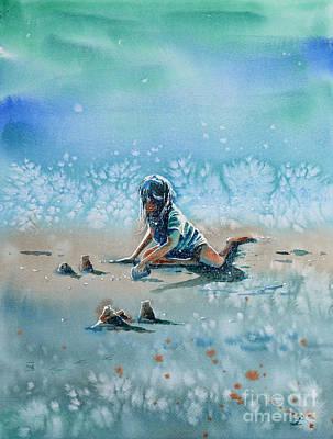 Painting - The Time Of Sandcastles by Zaira Dzhaubaeva