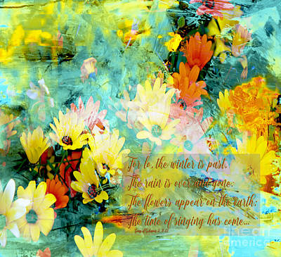 Prophetic Art Digital Art - The Time Of Singing Has Come by Beverly Guilliams
