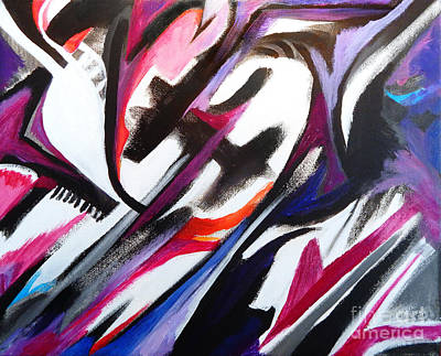 Painting - The Time Traveler by Expressionistart studio Priscilla Batzell