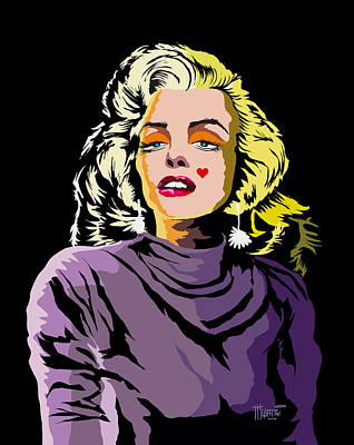 The Timeless Norma Jean Art Print by Anthony Mwangi