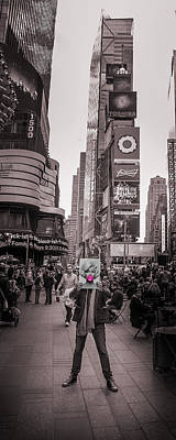 Time Square Photograph - The Times Of Marilyn by Az Jackson