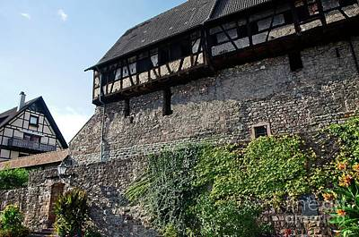 Photograph - The Tithe Barn On The Old City Wall In Gernsbach Germany by Elzbieta Fazel