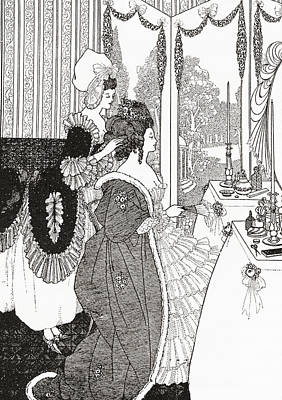 Everyday Life Drawing - The Toilet After Aubrey Beardsley. From by Vintage Design Pics