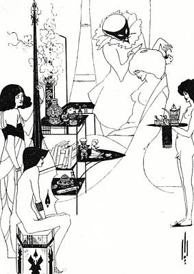 Pen And Ink Drawing Drawing - The Toilette Of Salome by Aubrey Beardsley