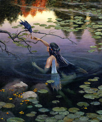 Lilly Pond Painting - The Token by Richard Hescox
