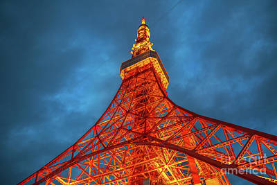 Photograph - The Tokyo Tower by Benny Marty