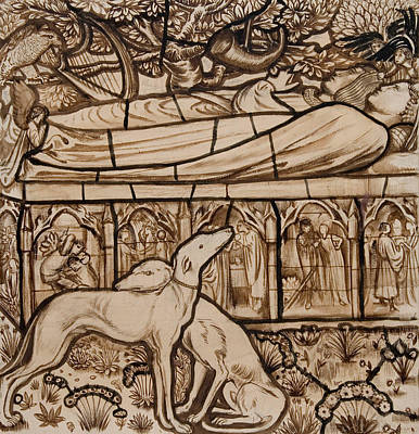 Drawing - The Tomb Of Tristram And Iseult by Edward Burne-Jones