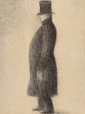 The Top Hat Art Print by Georges Pierre Seurat