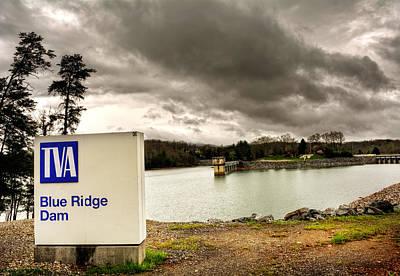 Tva Photograph - The Top Of Blue Ridge Dam by Greg Mimbs