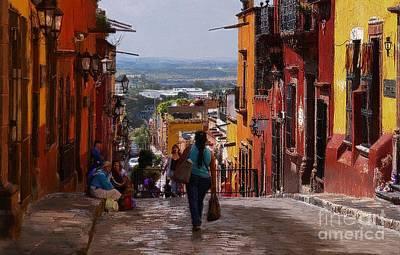 Umaran Street Photograph - The Top Of Calle Umaran by John  Kolenberg
