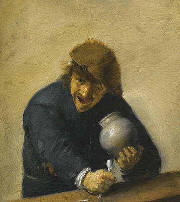 Painting - The Toper by Adriaen Brouwer