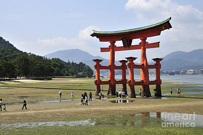 Miyajima Photograph - The Torii At Low Tide At Itsukushima Shrine Miyajima Japan  by Andy Smy