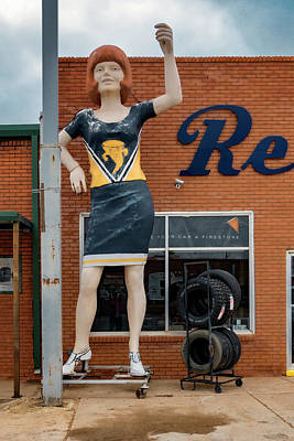 Photograph - The Tornadoes Cheerleader by Gary Warnimont