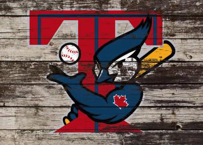 Roberto Mixed Media - The Toronto Blue Jays 1a by Brian Reaves