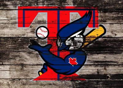 Toronto Blue Jays Mixed Media - The Toronto Blue Jays 1b by Brian Reaves