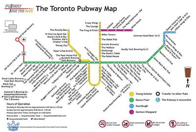 Toronto Maple Leafs Digital Art - The Toronto Pubway Map by Unquestionable Taste