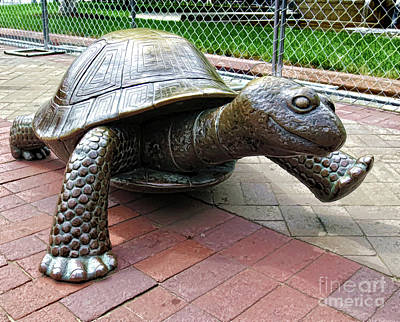 Painting - The Tortoise by Lanjee Chee
