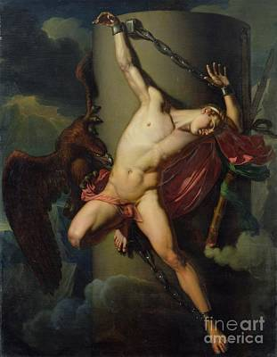 Column Painting - The Torture Of Prometheus by Jean-Louis-Cesar Lair