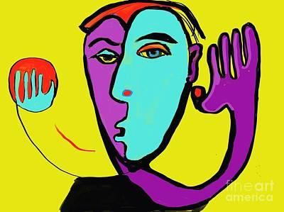 Digital Art - The Toss by Hans Magden