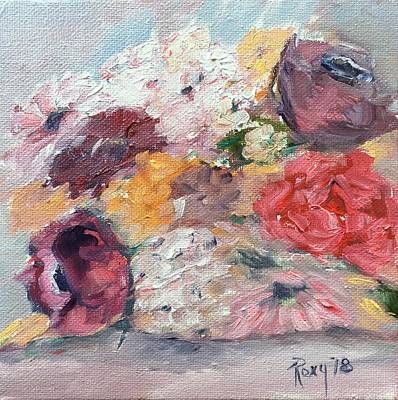 Contemporary Painting - The Tossed Bouquet by Roxy Rich