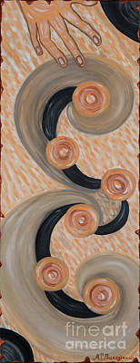Painting - The Touch Of Soul by MarBak Treasures by Mary P Bakogiannis