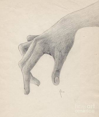 Drawing - The Touch That Never Hurts. by Annemeet Hasidi- van der Leij