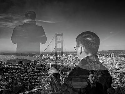 The Tourists - Golden Gate Bridge Art Print