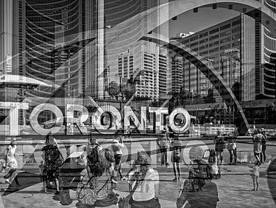 The Tourists - Toronto Art Print