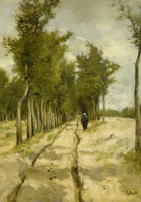 Mauve Painting - The Tower Avenue To Laren by Anton Mauve
