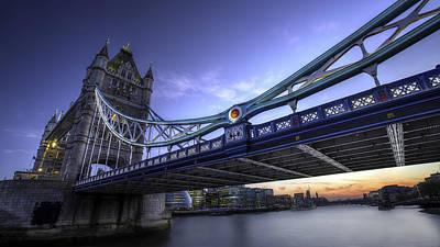 Photograph - Sunset At Tower Bridge by Walt  Baker