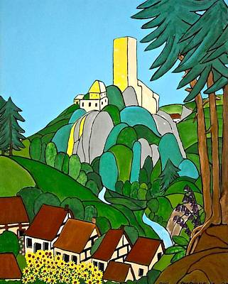 Painting - The Tower On The Hill by Stephanie Moore