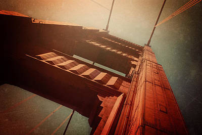 Rivets Photograph - The Towering Golden Gate by Carol Japp