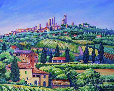 The Towers Of San Gimignano Original