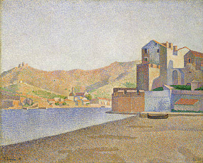 Seaside Painting - The Town Beach, Collioure, Opus 165 by Paul Signac