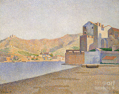 Collioure Painting - The Town Beach, Collioure by Paul Signac