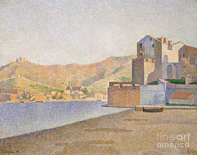 The Town Beach, Collioure Art Print by Paul Signac